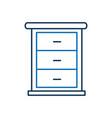 furniture bathroom drawers cabinet wooden vector image vector image
