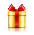 gift box icon surprise present red-gold template vector image