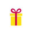 gift icon simple present box with ribbon vector image vector image