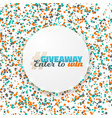 giveaway button button with confetti vector image vector image