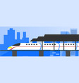 high speed electric train vector image vector image