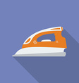 Iron icon Modern Flat style with a long shadow vector image vector image