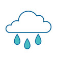 isolated rain cloud vector image vector image