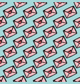 love mail hand drawn seamless pattern vector image