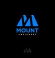 m letter monogram mountain equipment logo vector image vector image