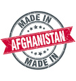 made in Afghanistan red round vintage stamp vector image vector image
