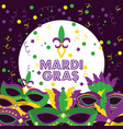 mardi gras poster and flyer with carnival masks vector image
