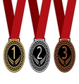 Medalje tri resize vector image vector image