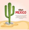 mexican culture cactus scene vector image vector image