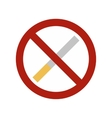 No smoking sign flat icon vector image