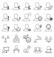 Office and People Icon Set vector image
