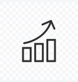 outline bar chart up trend icon isolated vector image