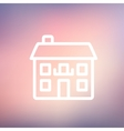 Real estate house thin line icon vector image vector image