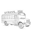 School bus Hand drawn transport sketch vector image vector image