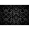 Seamless Black Floral Background vector image vector image