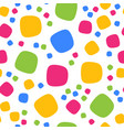 seamless pattern with colorful squares and dots vector image vector image