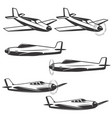 set airplane icons isolated on white background vector image vector image
