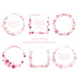set of assorted cherry blossom frames vector image vector image