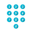 set of number icons vector image vector image