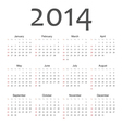 Simple vactor calendar 2014 vector image