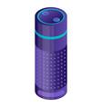 smart home speaker icon isometric style vector image