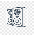 speakers concept linear icon isolated on vector image