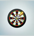 the arrow in bulls eye color vector image vector image