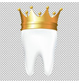 tooth in crown vector image vector image