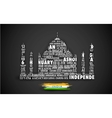 Typography Taj Mahal vector image