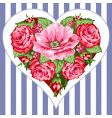 victorian roses heart vector image vector image