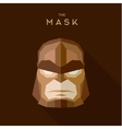Villain in a brown head mask the style of plane vector image vector image