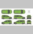 vw caddy starline passenger van l1l2 2015-present vector image vector image