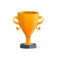 winner trophy cup isolated icon vector image vector image