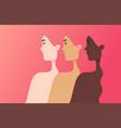 women different nationalities cultures vector image vector image