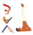 yoga positions mans characters class vector image