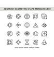 abstract geometric shape monoline 01 vector image