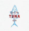 local fresh tuna and seafood abstract sign vector image