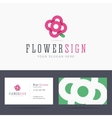 Logo and business card template with abstract vector image