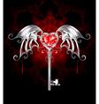 Key with Vampire Heart vector image