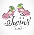 twins design element for greeting cards vector image