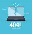 404 connection error icons vector image
