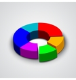 abstract round 3d business pie chart vector image vector image
