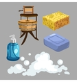 Accessories for washing and showering vector image vector image