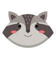 avatar with a cute funny raccoon isolated on vector image vector image
