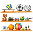 Ball set and other toys vector image