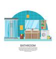 bathroom interior design composition vector image vector image