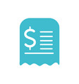 bill commerce business finance color silhouette vector image