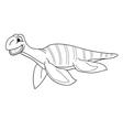 Black and white plesiosaur vector image vector image
