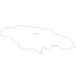 Black White Jamaica Outline Map vector image