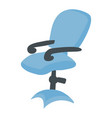 blue office chair is suitable for work chairs vector image vector image